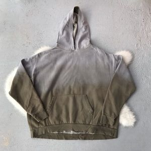 UO Out From Under Ombre Green Gray Hoodie